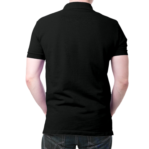 Image of Hanuman Face - Polo T-shirt Black