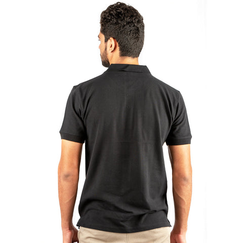 Men's Basic Polo Black T-shirt