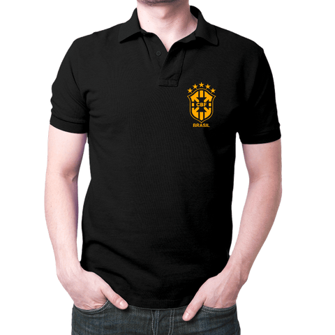 Brazil Logo- Polo T-shirt Black