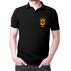 Image of Brazil Logo- Polo T-shirt Black