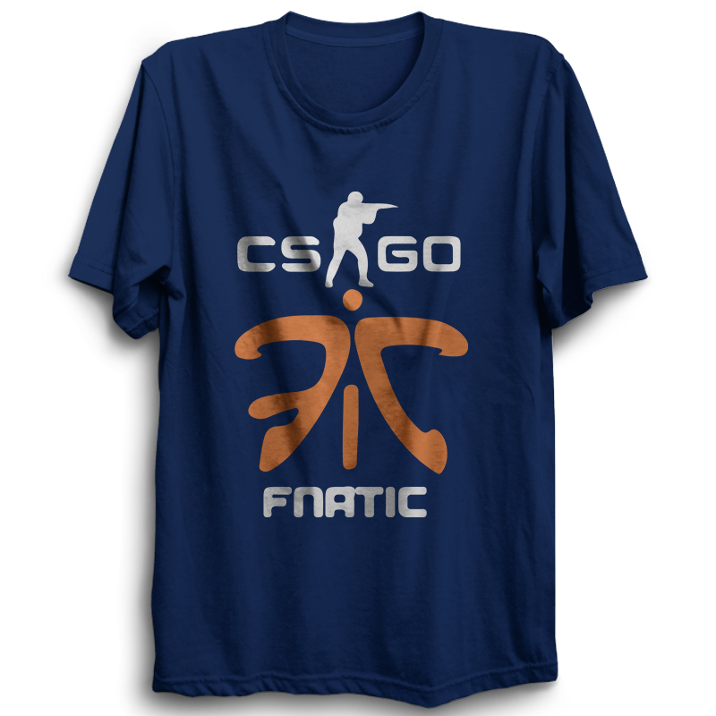 CS GO Fnatic Half Sleeve Navy Blue