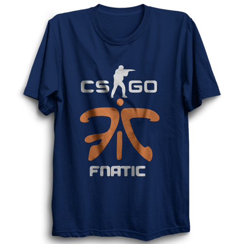 Image of CS GO Fnatic Half Sleeve Navy Blue