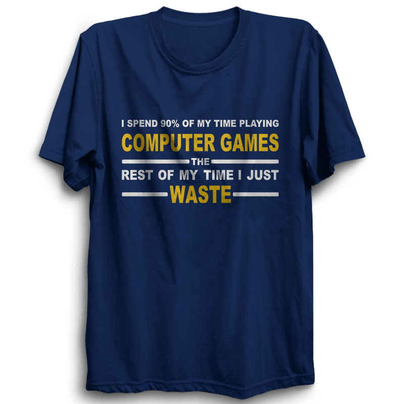 Computer Games -Half Sleeve Navy Blue