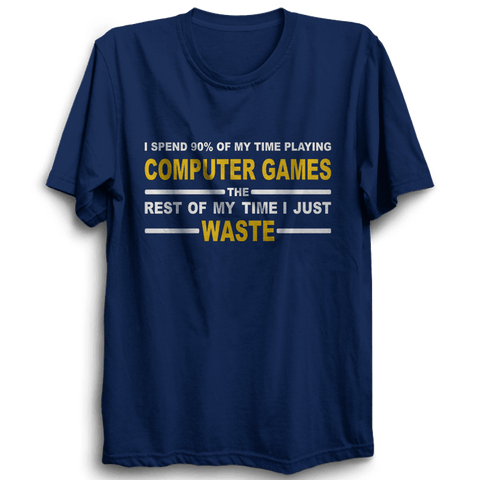Image of Computer Games -Half Sleeve Navy Blue