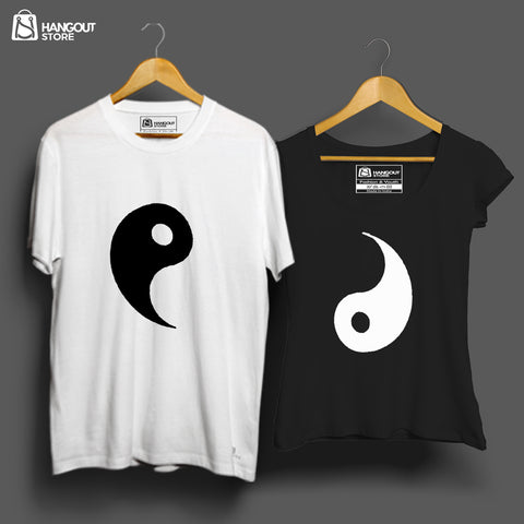 Couple Sign- Half Sleeves White/Black