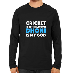CRIC 41 - Cricket Is My Religion Dhoni-Full Sleeve-Black