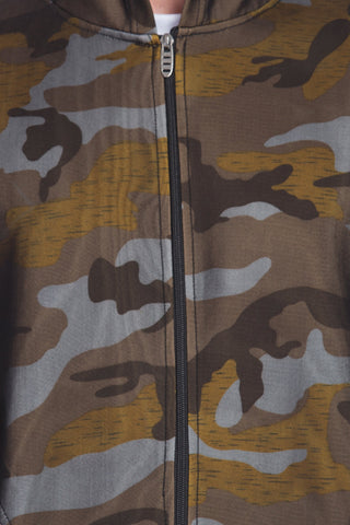 Image of Men's Army Pattern camouflage Green Hoodie