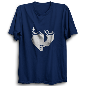 L Face Half Sleeve Navy Blue