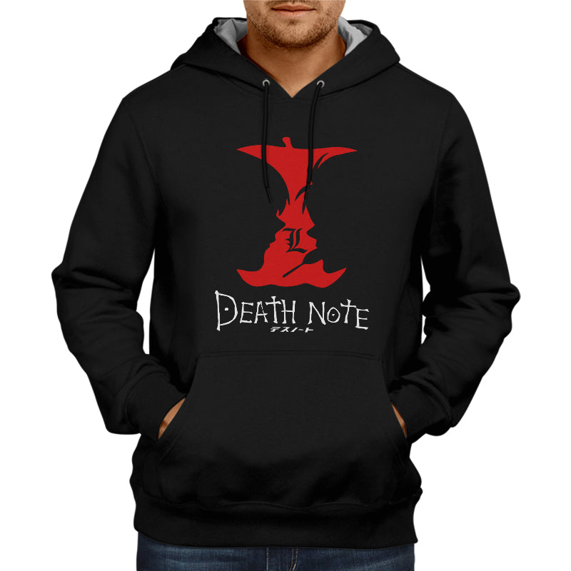 Deathnote Apple Face Hoodie Black