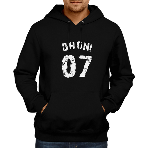 Image of CRIC 08- Dhoni 07-Hoodie-Black