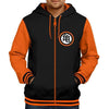 Image of Dragon Ball Z Zipper Hoodie (Orange-Black)
