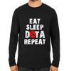 Image of Eat Sleep Dota Repeat Full Sleeve Black