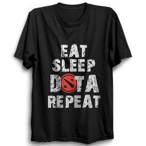 Eat Sleep Dota Repeat Half Sleeve Black