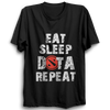 Image of Eat Sleep Dota Repeat Half Sleeve Black