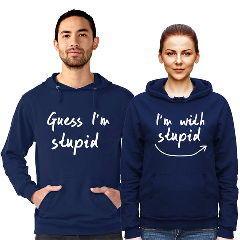Image of Guess I'm Stupid - Hoodie Navy Blue