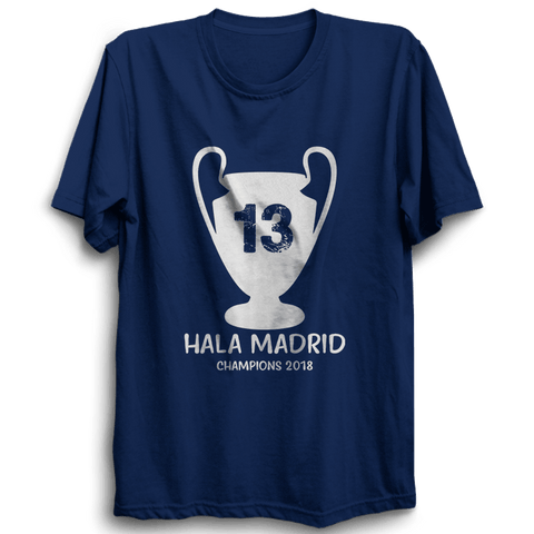 Hala Madrid Champion -Half Sleeve Navy Blue