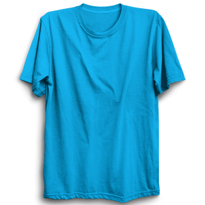 Basic Plain Turquoise Blue Half Sleeve