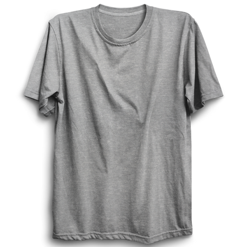 Basic Plain Grey Half Sleeve