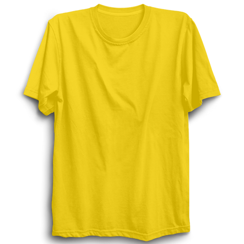 Basic Plain Yellow Half Sleeve