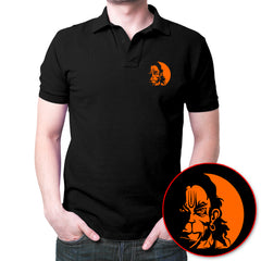 Hanuman Face - Polo T-shirt Black
