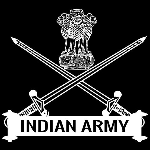 Image of Indian Army Logo Half Sleeve Black