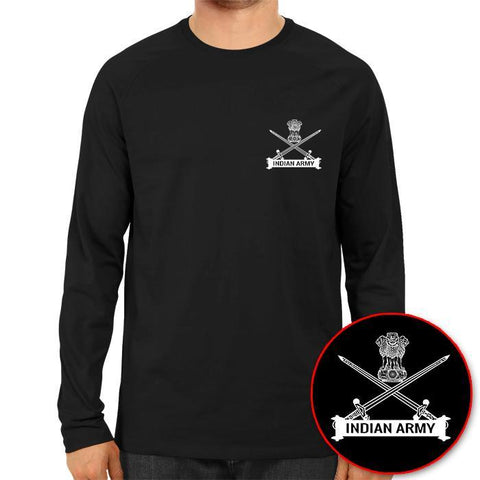 Image of Indian Army Logo Full Sleeve Black