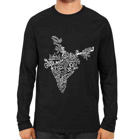 Indian States Map Full Sleeve Black