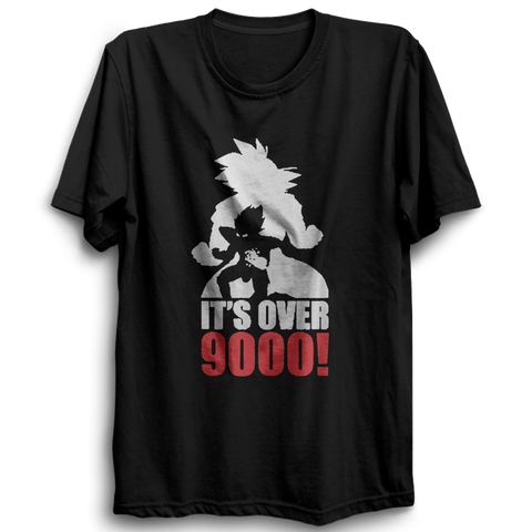 Image of It's Over 9000 Half Sleeve Black