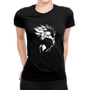 Kakashi 2 -Women's Half Sleeve Black
