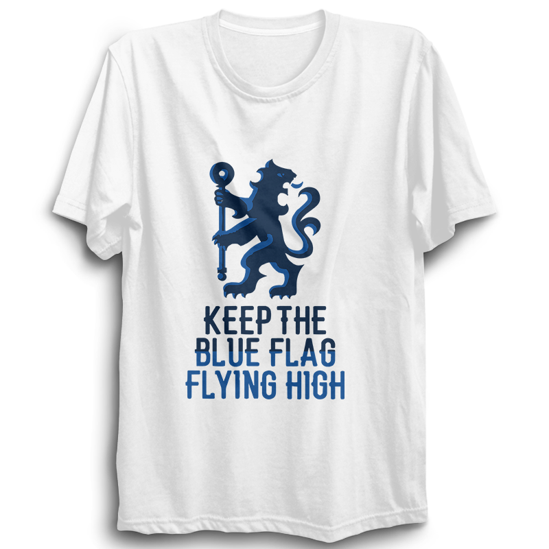 Keep The Blue Flag -Half Sleeve White