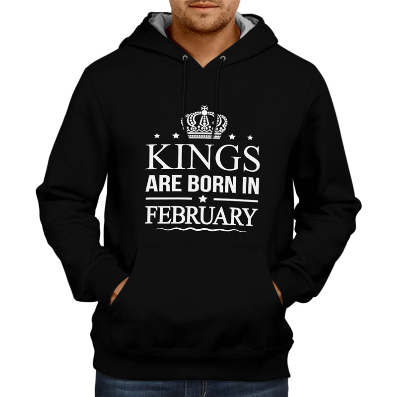 Kings Are Born In Febraury - Black Hoodie