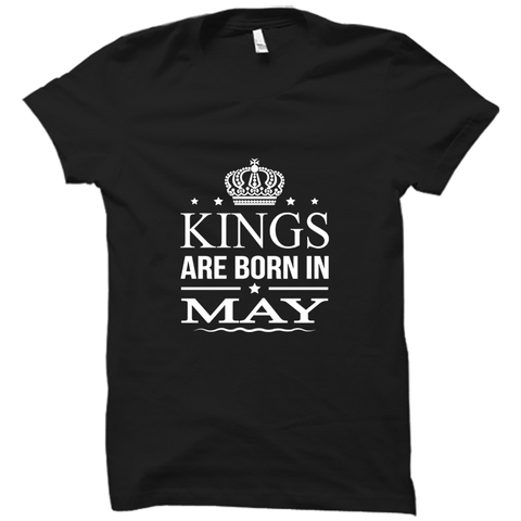Kings Are Born In May -Half Sleeve Black