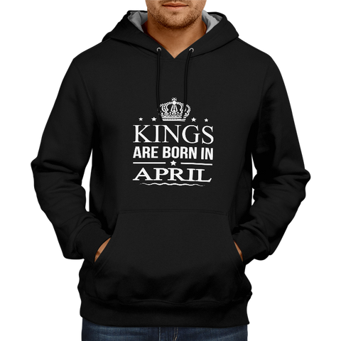 Kings Are Born In April - Black Hoodie