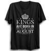 Image of Kings Are Born In August -Half Sleeve Black