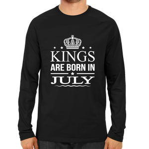 Kings Are Born In July -Full Sleeve Black