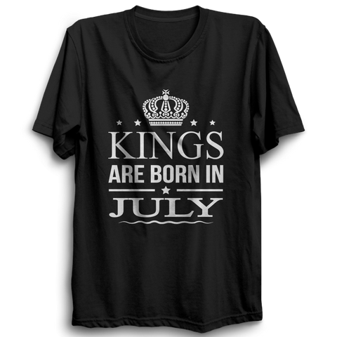 Kings Are Born In July -Half Sleeve Black