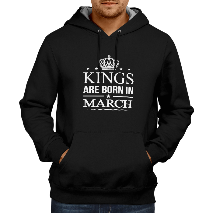 Kings Are Born In March - Black Hoodie