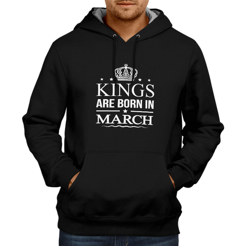 Image of Kings Are Born In March - Black Hoodie