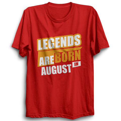 Image of Legends Are Born In August -Half Sleeve Red