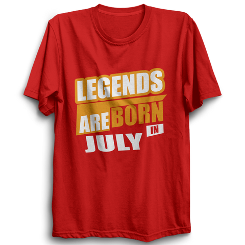 Image of Legends Are Born In July -Half Sleeve Red