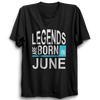 Image of Legends Are Born In June 2 -Half Sleeve Black