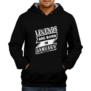 Legend are Born in January 3 - Black Hoodie