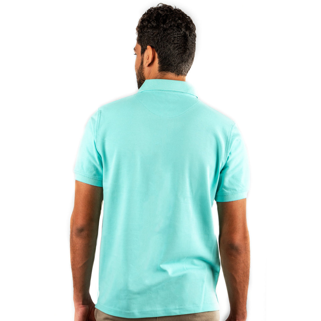 Men's Basic Polo Sky Blue T-shirt