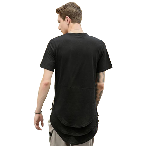 Low Drop Harem Black T-Shirt