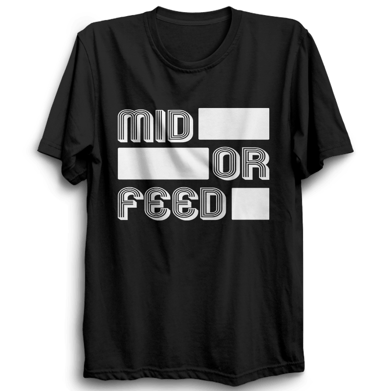 LOL-05 Mid Or Feed Half Sleeve Black