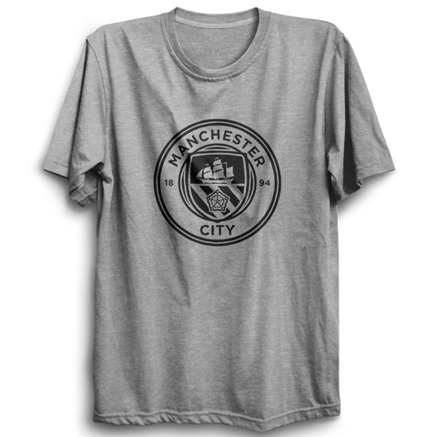 Image of Manchester City Logo - Half Sleeve Grey