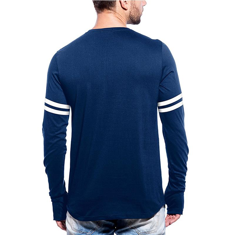 Men's Full Sleeve Stripes Cotton T-shirt