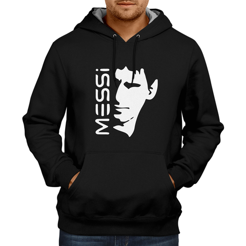 MESSI With Face Hoodie Black