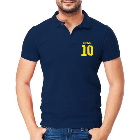 Messi 10 Polo T-shirt Navy Blue