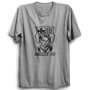 MESSI 10 -Half Sleeve Grey